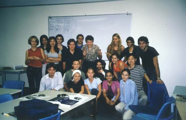 Central College - Sydney, general English course class with our teacher David in the middle.