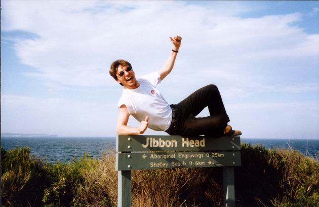 On the Jibbon Head Sign, Royal National Park, Sydney.