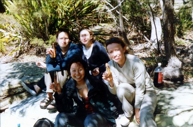 BBQ in Royal National Park - with Kumiko, Janette and both Catherines.