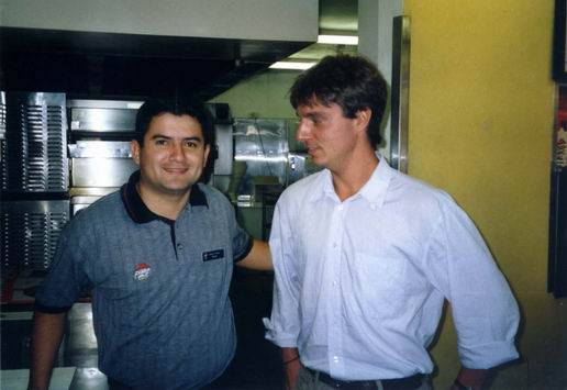 With Nestor - pizzeria manager.