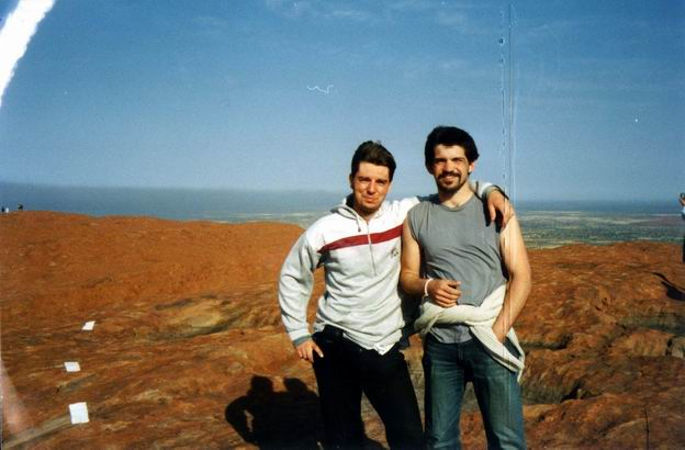 With Ivan on the top of Uluru.